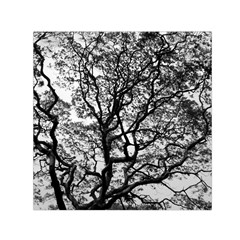 Tree Fractal Small Satin Scarf (square) by BangZart