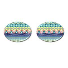 Tribal Print Cufflinks (oval) by BangZart
