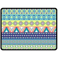 Tribal Print Double Sided Fleece Blanket (large)  by BangZart
