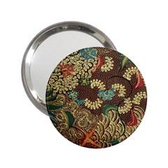 Traditional Batik Art Pattern 2 25  Handbag Mirrors by BangZart