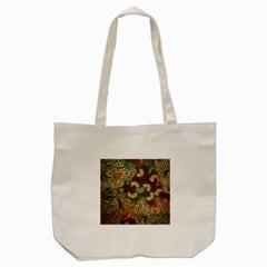Traditional Batik Art Pattern Tote Bag (cream) by BangZart