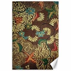 Traditional Batik Art Pattern Canvas 20  X 30   by BangZart