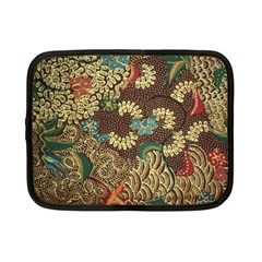 Traditional Batik Art Pattern Netbook Case (small)  by BangZart