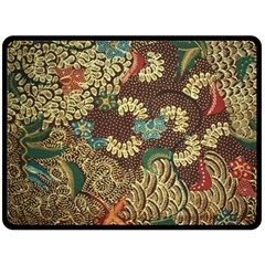 Traditional Batik Art Pattern Fleece Blanket (large)  by BangZart