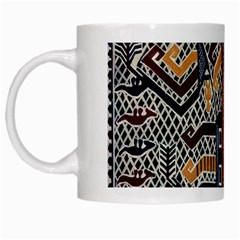 Traditional Batik Indonesia Pattern White Mugs by BangZart