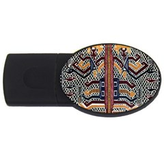 Traditional Batik Indonesia Pattern Usb Flash Drive Oval (4 Gb) by BangZart