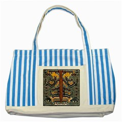 Traditional Batik Indonesia Pattern Striped Blue Tote Bag by BangZart