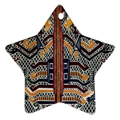 Traditional Batik Indonesia Pattern Star Ornament (two Sides) by BangZart