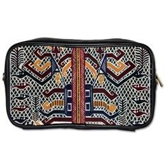 Traditional Batik Indonesia Pattern Toiletries Bags 2 Side by BangZart