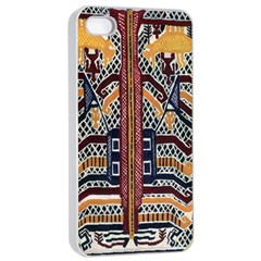 Traditional Batik Indonesia Pattern Apple Iphone 4/4s Seamless Case (white) by BangZart