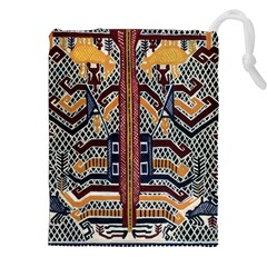 Traditional Batik Indonesia Pattern Drawstring Pouches (xxl) by BangZart