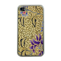 Traditional Art Batik Pattern Apple Iphone 4 Case (clear) by BangZart