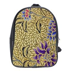 Traditional Art Batik Pattern School Bags (xl)  by BangZart