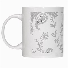 Traditional Art Batik Flower Pattern White Mugs by BangZart