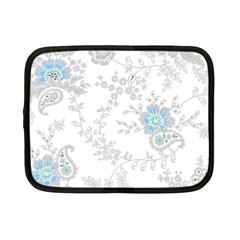 Traditional Art Batik Flower Pattern Netbook Case (small)  by BangZart