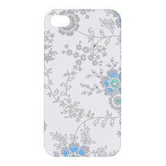 Traditional Art Batik Flower Pattern Apple Iphone 4/4s Hardshell Case by BangZart