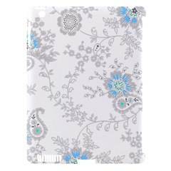 Traditional Art Batik Flower Pattern Apple Ipad 3/4 Hardshell Case (compatible With Smart Cover) by BangZart