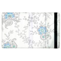 Traditional Art Batik Flower Pattern Apple Ipad 3/4 Flip Case by BangZart