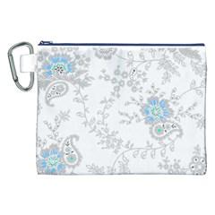 Traditional Art Batik Flower Pattern Canvas Cosmetic Bag (xxl) by BangZart