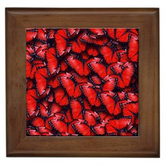 The Red Butterflies Sticking Together In The Nature Framed Tiles by BangZart