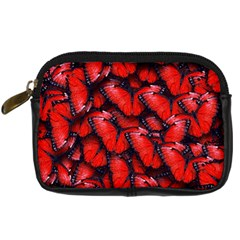 The Red Butterflies Sticking Together In The Nature Digital Camera Cases by BangZart