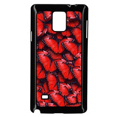 The Red Butterflies Sticking Together In The Nature Samsung Galaxy Note 4 Case (black) by BangZart