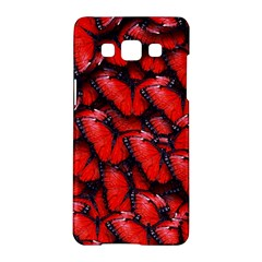 The Red Butterflies Sticking Together In The Nature Samsung Galaxy A5 Hardshell Case  by BangZart