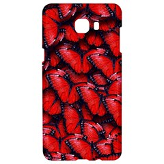 The Red Butterflies Sticking Together In The Nature Samsung C9 Pro Hardshell Case  by BangZart