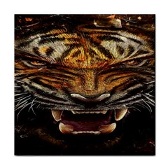 Tiger Face Tile Coasters by BangZart