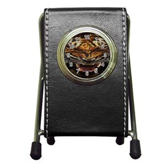 Tiger Face Pen Holder Desk Clocks by BangZart
