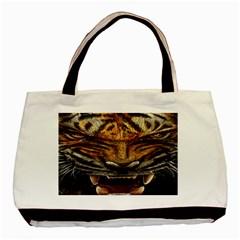 Tiger Face Basic Tote Bag by BangZart