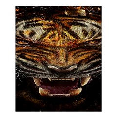 Tiger Face Shower Curtain 60  X 72  (medium)  by BangZart