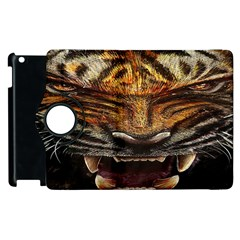 Tiger Face Apple Ipad 2 Flip 360 Case by BangZart
