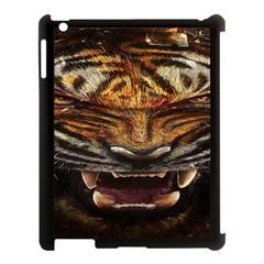 Tiger Face Apple Ipad 3/4 Case (black) by BangZart