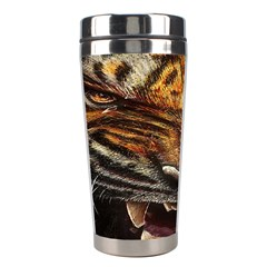 Tiger Face Stainless Steel Travel Tumblers by BangZart