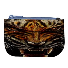 Tiger Face Large Coin Purse by BangZart