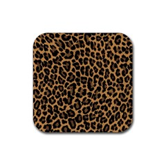 Tiger Skin Art Pattern Rubber Square Coaster (4 Pack)  by BangZart