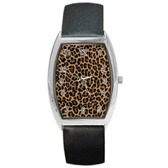Tiger Skin Art Pattern Barrel Style Metal Watch by BangZart