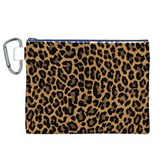 Tiger Skin Art Pattern Canvas Cosmetic Bag (xl) by BangZart