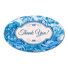 Thank You Oval Magnet by BangZart