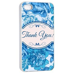 Thank You Apple Iphone 4/4s Seamless Case (white) by BangZart