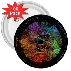 The Art Links Pi 3  Buttons (100 Pack)  by BangZart