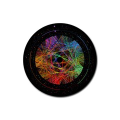 The Art Links Pi Rubber Coaster (round)  by BangZart