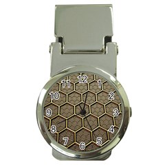 Texture Hexagon Pattern Money Clip Watches by BangZart
