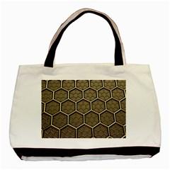 Texture Hexagon Pattern Basic Tote Bag by BangZart