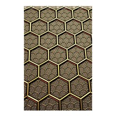 Texture Hexagon Pattern Shower Curtain 48  X 72  (small)  by BangZart