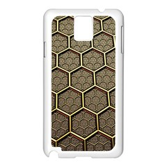 Texture Hexagon Pattern Samsung Galaxy Note 3 N9005 Case (white) by BangZart