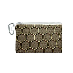 Texture Hexagon Pattern Canvas Cosmetic Bag (s) by BangZart