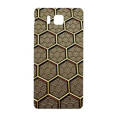 Texture Hexagon Pattern Samsung Galaxy Alpha Hardshell Back Case by BangZart