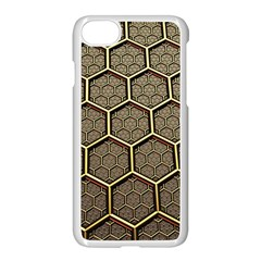 Texture Hexagon Pattern Apple Iphone 7 Seamless Case (white) by BangZart